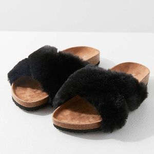 Urban Outfitters Faux Fur Sandals